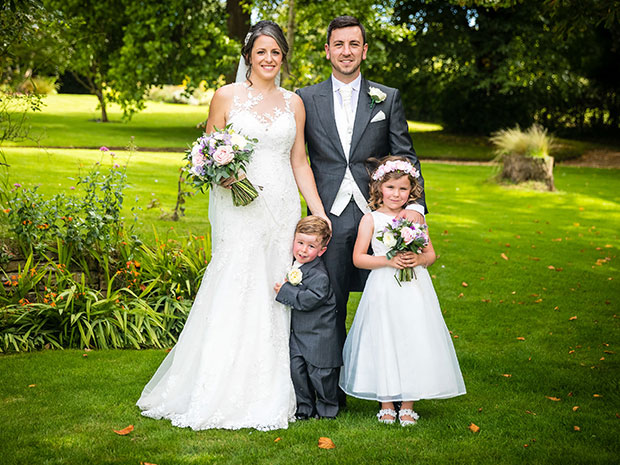 Real wedding at Glenfall House
