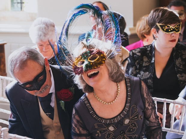 A masquerade celebration at Elmore Court