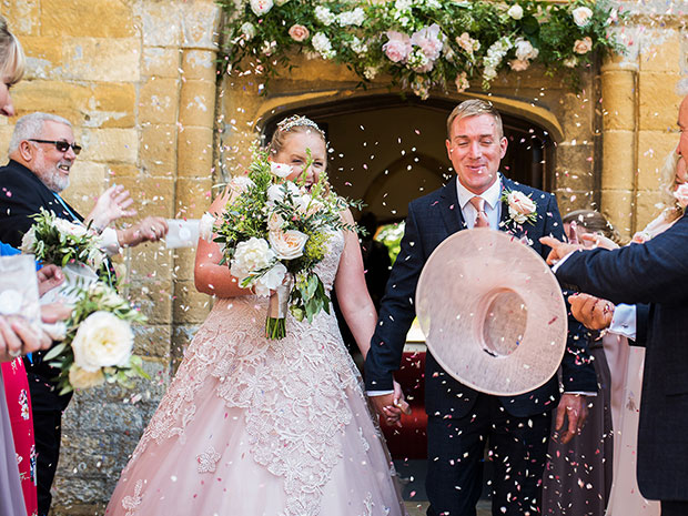 Real wedding at Dumbleton Hall