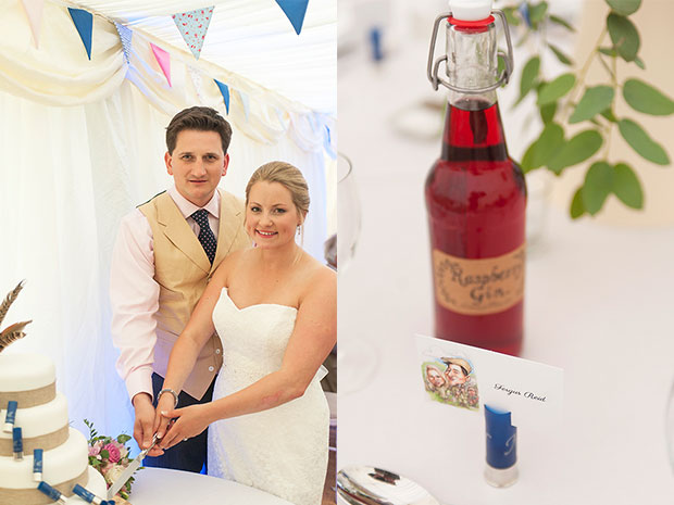 Real wedding with Bisley Marquees