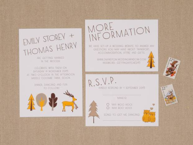 The Woodland Wedding Invitations By Amelia Lane Paper Feature Sweet Seasonal Designs