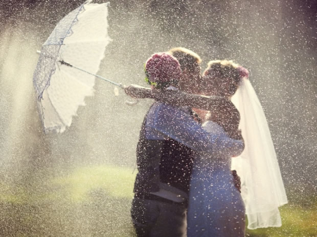 When the heavens open, don't let the British weather dampen your big day.