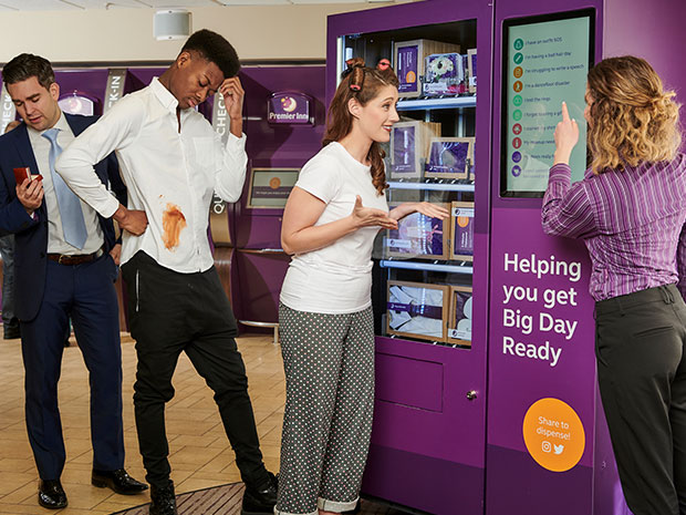 Premier Inn has launched a new Wedding Vending Machine.