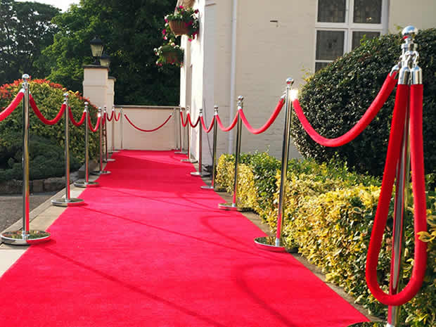 A red carpet welcomed guests on the opening night.