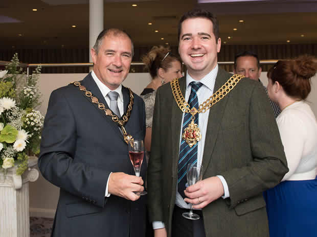 President of the Gloucester Chamber of Commerce, Mark Boyce, and the Mayor of Gloucester turned up for the event.