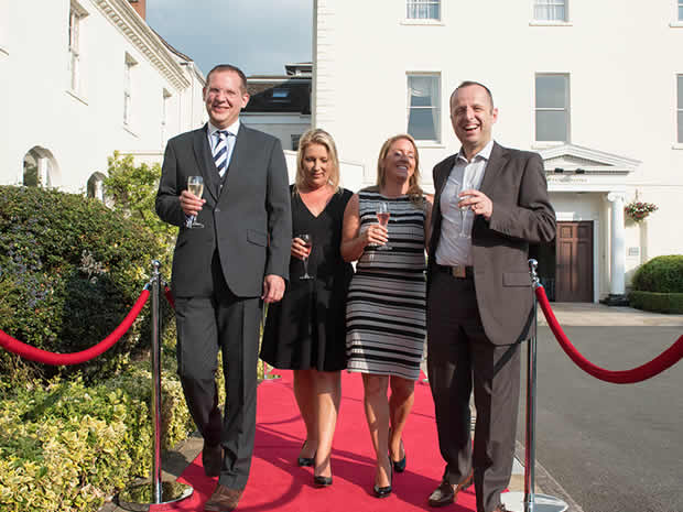 Guests were welcomed with a glass of fizz on the red carpet.