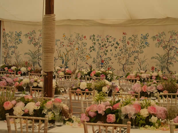 The adjoining garden lends itself perfectly to marquees.