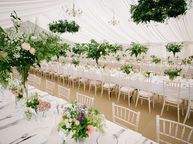From formal wedding breakfasts to laid back celebrations, the marquees are ideal for every type of occasion. © Douglas Fry Photography