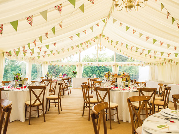 Let Bisley Marquees bring your wedding styling dreams to life. © Holly Derrick Photography