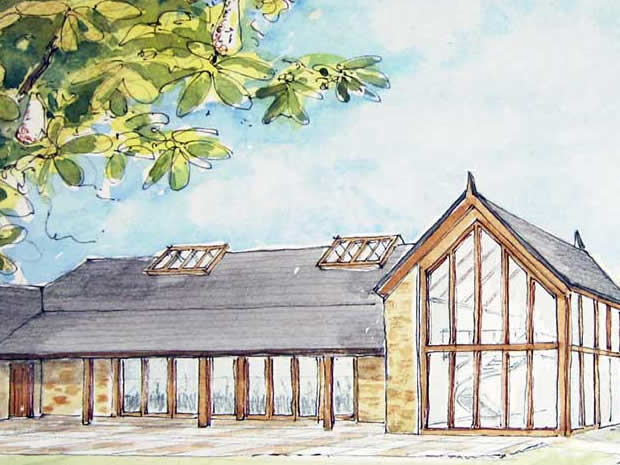 An artist's impression of what the Cotswold venue will look like when completed.