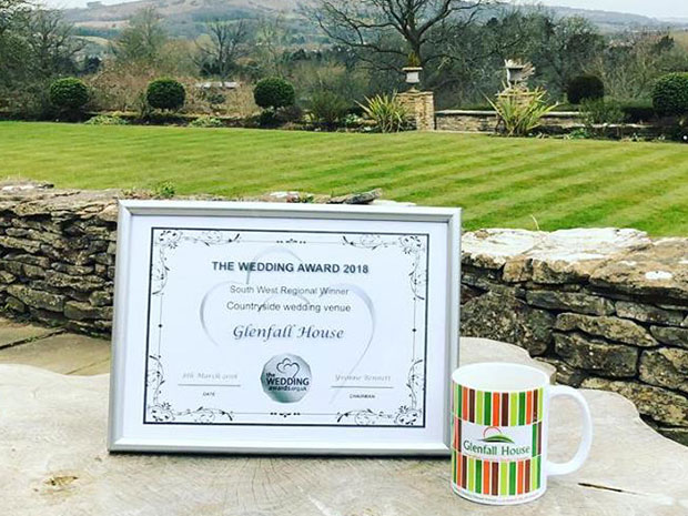 Congratulations to Glenfall House, the best Countryside Wedding Venue!