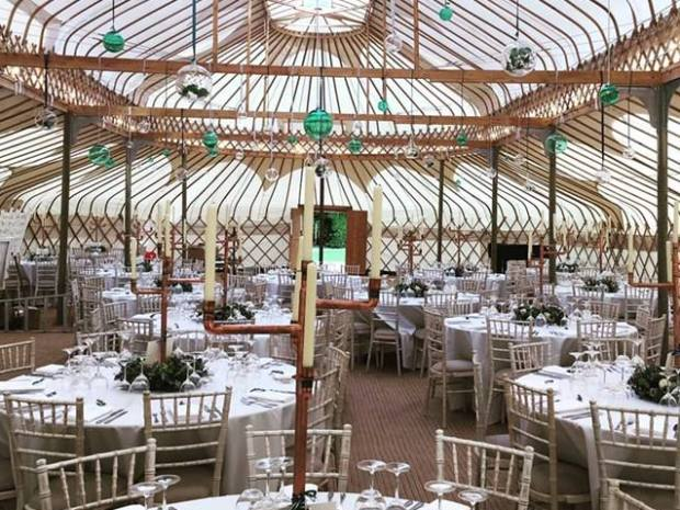 The impressive yurt will be made by the talented Cheltenham Yurt Hire.