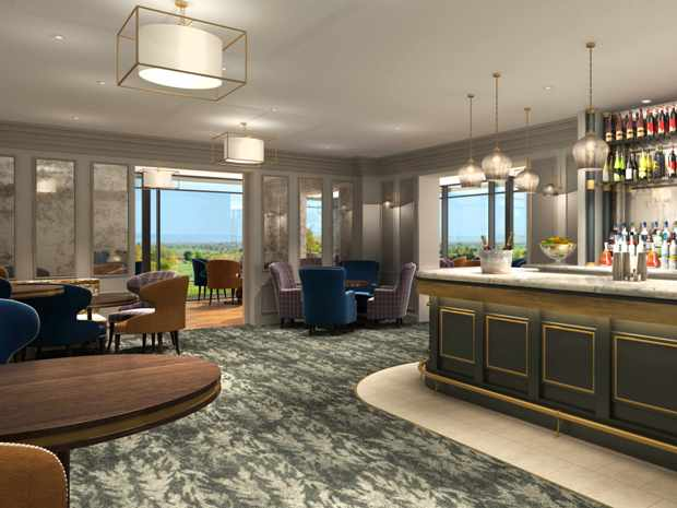 An artist's impression of Tewkesbury Park Hotel's new Berkeley Bar.