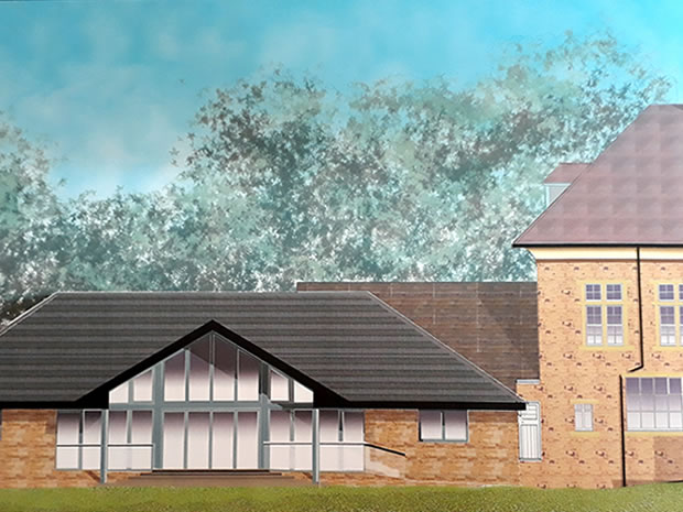 An artist's impression of The Speech House Hotel's new wedding and events space.