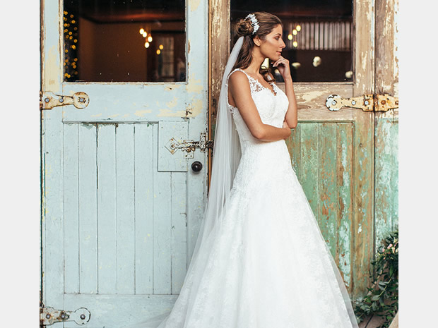 Team the Isobel dress with a cathedral-length veil for a stunning finish.