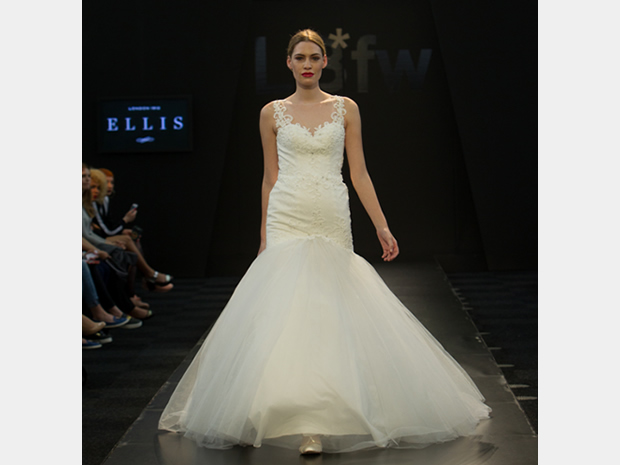 This dramatic dress by Ellis Bridals was unveiled in the Bridal Collections show.
