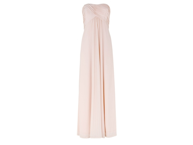 The classic shape and elegant shade of this dress, £149, would suit endless colour schemes.