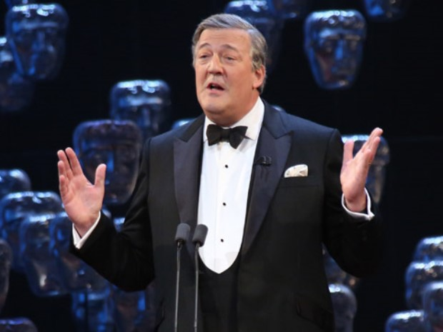 Stephen Fry was looking dapper with a classic tuxedo and crisp white pocket square.
