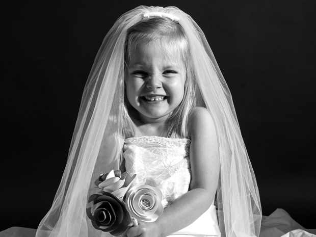 Bring back memories of your big day with Mouse About Town's sweet children's dress portraits.