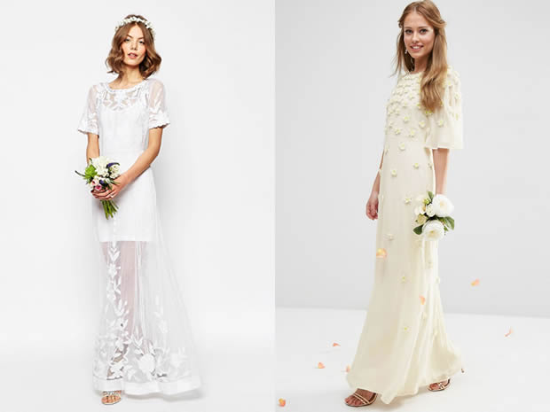 ASOS's brand new wedding collection offers bridal gowns with a fashionable twist.