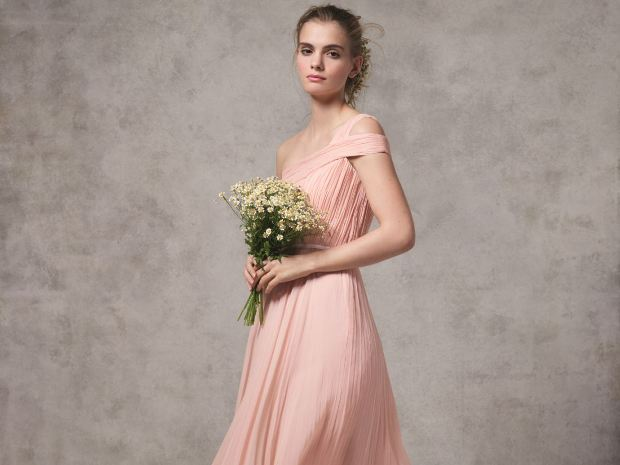The new bridesmaid collection from Hobbs features romantic dresses in a choice of colours.