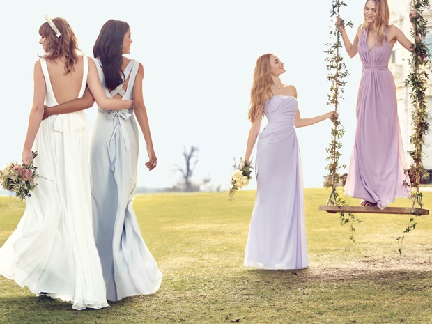 The backs of the dresses are equally pretty and are perfect for making an entrance.