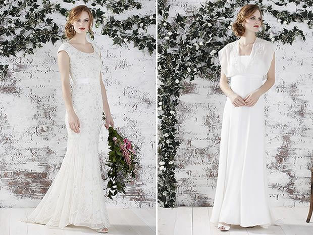 Monsoon's new bridal collection includes the Corrina dress, £499, and the Savannah, £399.