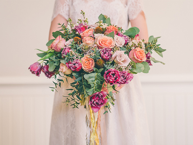 The Flower Girls can create beautiful, bespoke wedding bouquets.