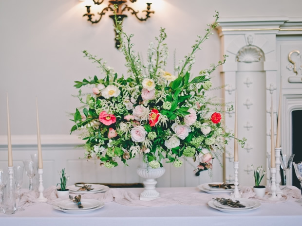 Up the wow factor with a bold floral display. Image Eve Dunlop | Flowers by Amber Persia.