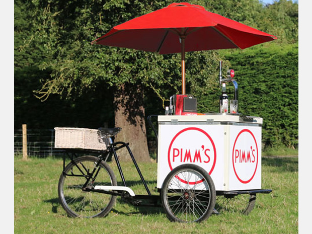 The business also has a chilled drinks tricycle.