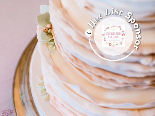 Find inspiration for your wedding cake with Cherish Cakes. Image © Red Maple.