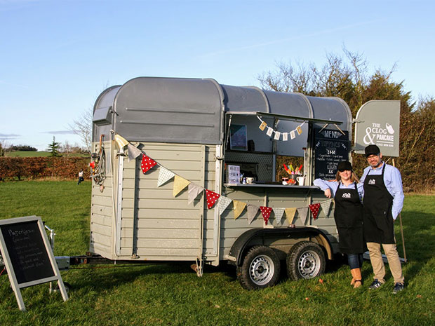 The Clog & Pancake cooks up sweet treats in its converted horse trailer.