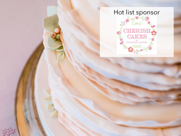 Find inspiration for your wedding cake with Cherish Cakes. © Red Maple.