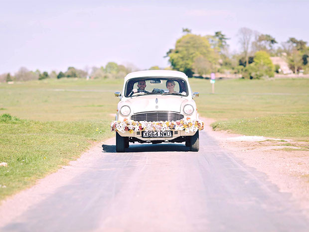 Kushi Cars offer a stylish and unique way to get brides to their wedding venue on time. © James Fear