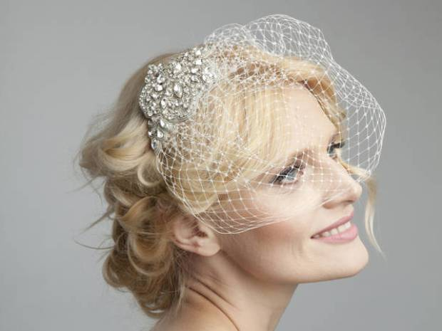 Create a striking wedding look with Dee Dee Bridal's Linnet Birdcage Veil, £185.