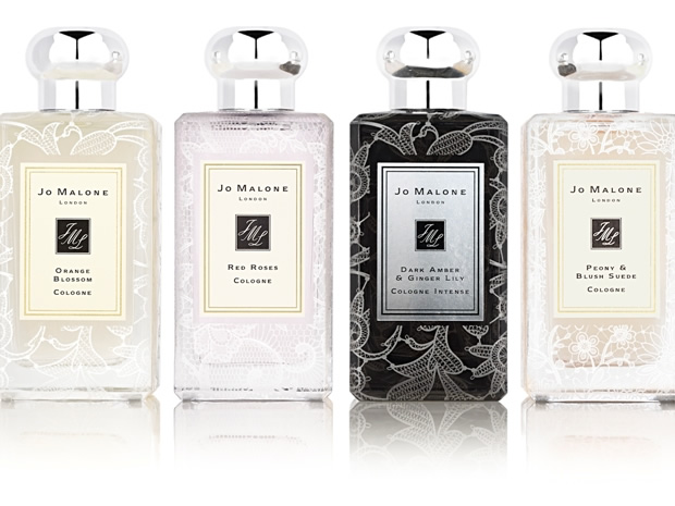 The new Jo Malone Lace Bottle collection is designed with the bride in mind.