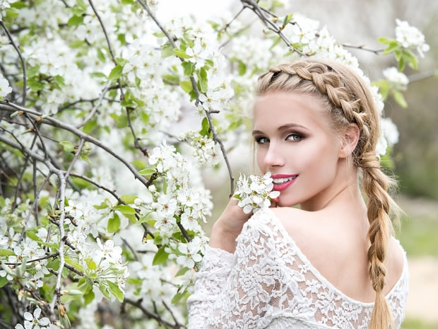 Plaits in every shape and form are a key look for 2015 brides-to-be.