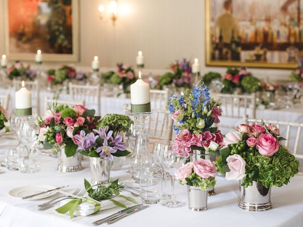 Julia work closely with florist to create impressive table decorations.
