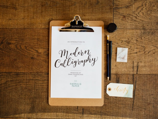 Learn the art of modern calligraphy at Emerald Paper Design's autumn workshop in Stow.