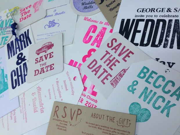 The new DIY Wedding Stationery workshop at Retro Press is perfect for creative couples.