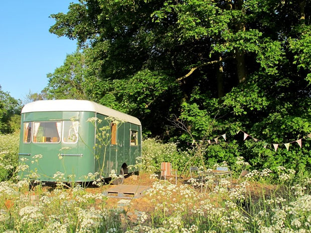 Enjoy a glamping hen part in the Wye Valley with Mad Dogs and Vintage Vans.