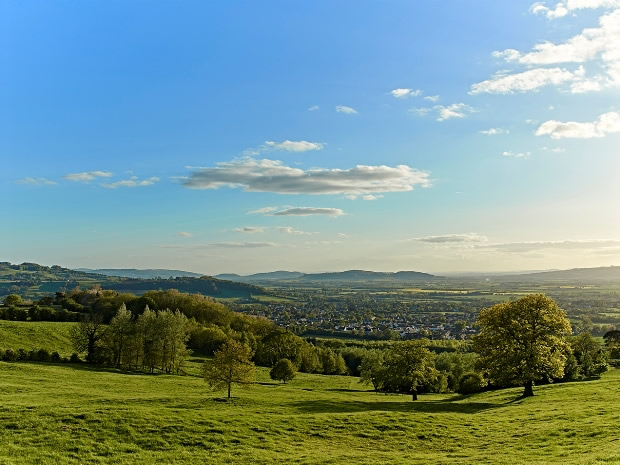 Guests staying in the Hilly Huts will benefit from stunning views of the Vale of Evesham.