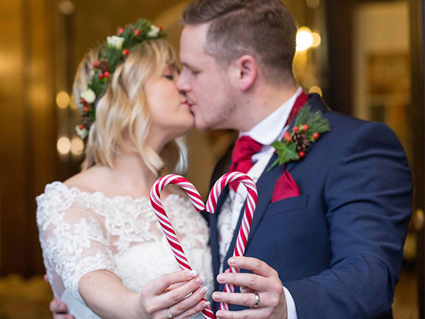 Be inspired by this gorgeous Christmas-themed Real Wedding. All images © Nikki Kirk Photography