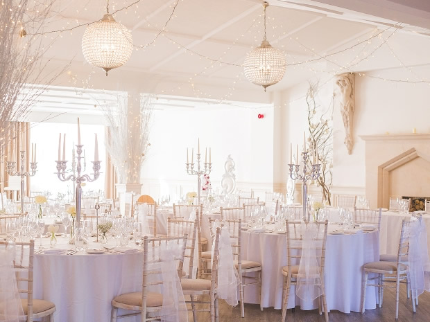 The beautiful venue was transformed into a winter wonderland for the February wedding.
