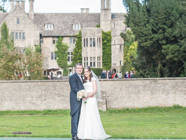 Chris and Katie celebrated their autumn wedding at Stonehouse Court near Stroud.