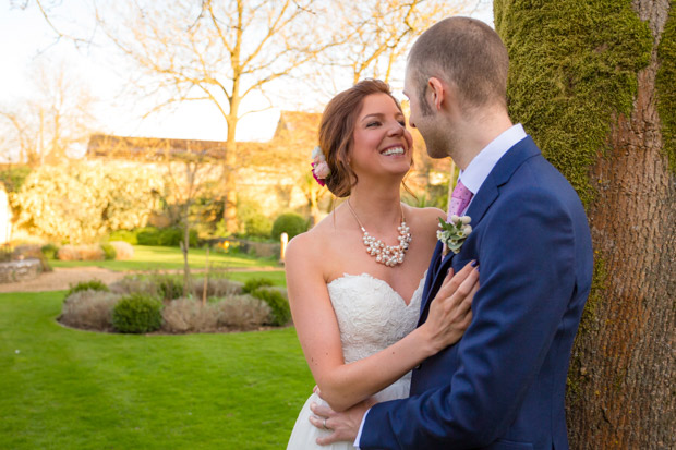 Tess and Chris celebrated their spring wedding at The Bay Tree in Burford.