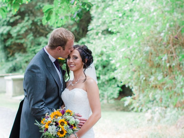 Aimee Cole and Will Kingston celebrated their autumn wedding in the Cotswolds.