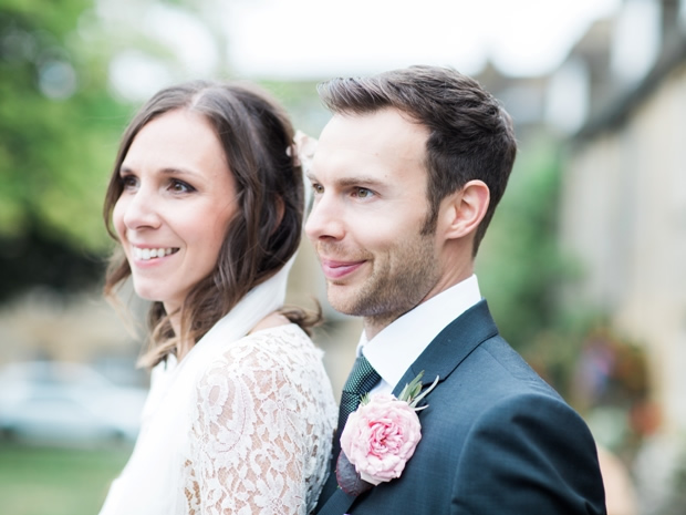 Anna and Charlie celebrated their September wedding in the Cotswolds. © Bowtie & Belle.