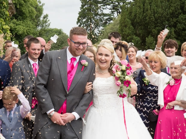 Becky and Alex celebrated their summer wedding at Gloucestershire's Eastwood Park.