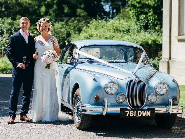 The couple celebrated their special day at Elmore Court. Image © Simon Biffen Photography.